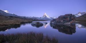 The Matterhorn Reflected in Stellisee at Sunrise by Roberto Moiola