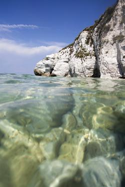 Turquoise sea, Capo Bianco beach, Portoferraio, Elba Island, Livorno Province, Tuscany, Italy, Euro by Roberto Moiola