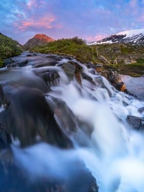 Waterfall flowing down from Blafjellelva plateau in Dalsnibba mountain area by Roberto Moiola