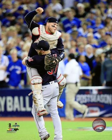 Roberto Perez & Cody Allen Game 5 of the 2016 American League Championship Series