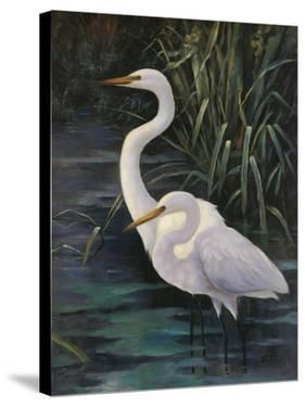 Egrets On Blue by Robertson