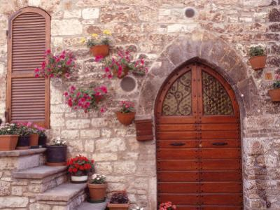 Exterior of House with Flowers, Italy