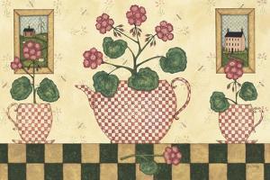 Pink Flower Pots by Robin Betterley