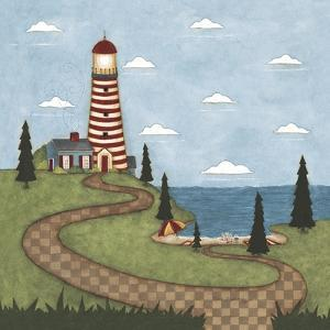 Red and White Lighthouse by Robin Betterley