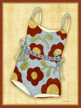 Red Bathing Suit Print by Robin Betterley