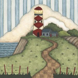 Red Diamond Lighthouse by Robin Betterley