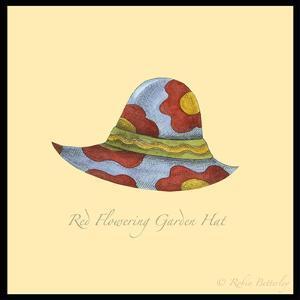 Red Flowering Garden Hat by Robin Betterley