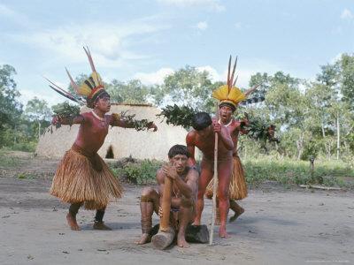 Kamayura Indian Fish Dance, Xingu, Brazil, South America