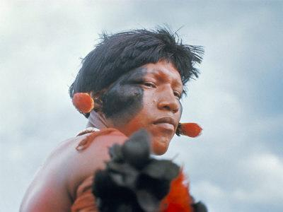 Portrait of a Kamayura Indian, Xingu, Brazil, South America