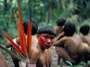 Yanomami Man Made up for the Feast, Brazil, South America by Robin Hanbury-tenison