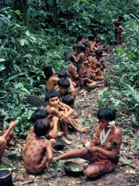 Yanomami on the Way to a Feast, Brazil, South America by Robin Hanbury-tenison