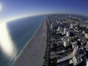 Aerial View of South Beach, Miami, Florida, USA by Robin Hill