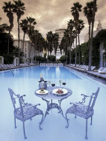 Delano Hotel Pool, South Beach, Miami, Florida, USA