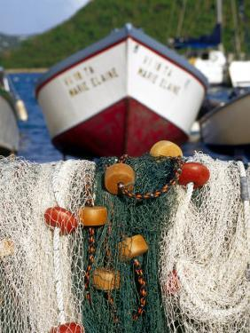 Fishing Nets at Marina, Frenchtown, St. Thomas, Caribbean by Robin Hill