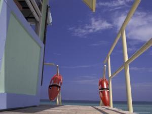Lifeguard Stand, South Beach, Miami, Florida, USA by Robin Hill