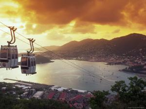 Overview of Town and Harbor, Charlotte Amalie, St. Thomas, Caribbean by Robin Hill