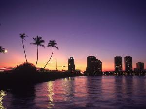 Skyline and Sunset, West Palm Beach, FL by Robin Hill