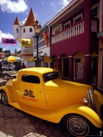 Street Scene in Philipsburg, St. Martin, Caribbean by Robin Hill