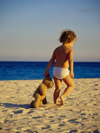 Toddler on the Beach, Miami, FL by Robin Hill