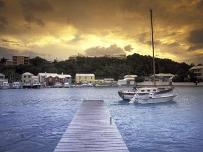 View of Flatts Village, Bermuda, Caribbean by Robin Hill