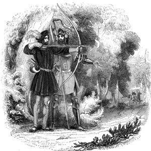 Robin Hood, Legendary English Folk Hero and Outlaw and Champion of the Poor, Early 19th Century