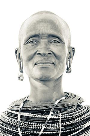 A Samburu Woman Poses for Her Portrait by Robin Moore