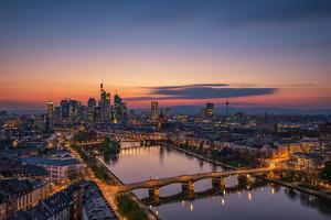 Frankfurt Skyline at Sunset by Robin Oelschlegel