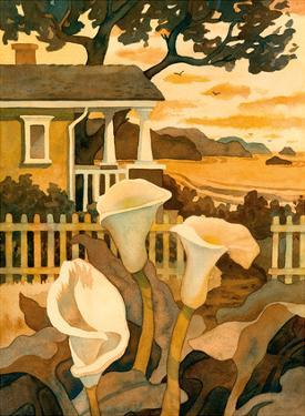 Craftsman Cottage By the Sea - Calla Lilies by Robin Wethe Altman