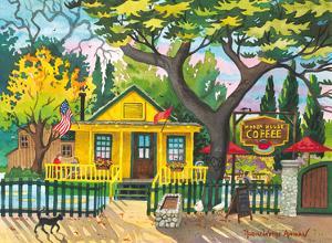 Hidden House Coffee Shop - San Juan Capistrano, California by Robin Wethe Altman