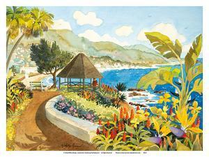 Laguna Gazebo - Heisler Park - Laguna Beach California by Robin Wethe Altman