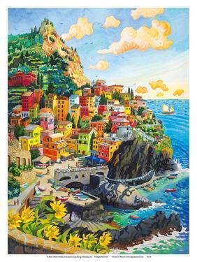 Manarola, Italy - Cinque Terre Coastal Town - Italian Riviera by Robin Wethe Altman