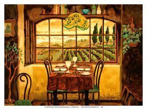 Romantic Dinner in Tuscany - Italy - Italian Villa by Robin Wethe Altman