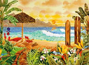 Surfing the Islands - Tropical Beach Paradise - Hawaii - Hawaiian Islands by Robin Wethe Altman