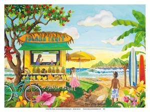 The Fruit Stand at the Beach - Tropical Paradise - Hawaii - Hawaiian Islands by Robin Wethe Altman