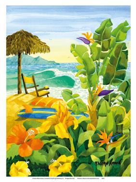 Tropical Holiday - Beach Chair Ocean View - Hawaii - Hawaiian Islands by Robin Wethe Altman