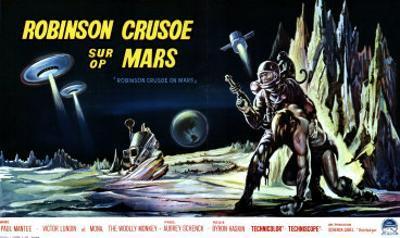 Robinson Crusoe on Mars, Belgian Movie Poster, 1964