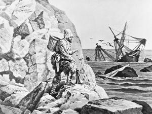 Robinson Crusoe Viewing His Wreck Print