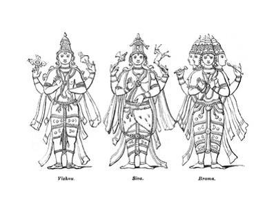 Vishnu, Shiva, and Brahma, 1847