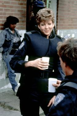 Robocop by Paul Verhoeven with Nancy Allen and Peter Weller ( by dos ), 1987 (photo)