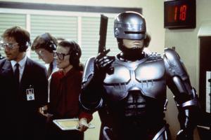 Robocop by Paul Verhoeven with Peter Weller, 1987 (photo)