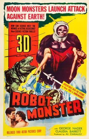 Robot Monster, George Nader, Claudia Barrett, 1953