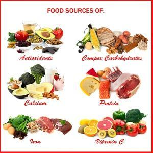 Chart Showing Food Sources of Various Nutrients by Robyn Mackenzie