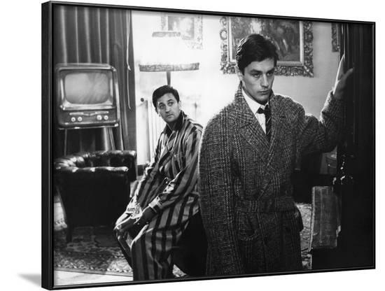 """""""Rocco and his Brothers"""" (Rocco and ses freres) by Luchino Visconti with Roger Hanin and Alain Delo--Framed Photo"""