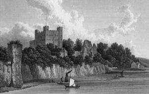 Rochester Castle, Kent by W Westall