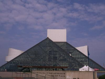 Rock and Roll Hall of Fame in Downtown Cleveland