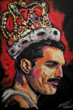 Freddie Mercury Painting 002 by Rock Demarco