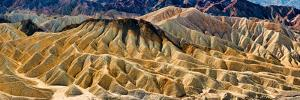 Rock Formation on a Landscape, Zabriskie Point, Death Valley, Death Valley National Park