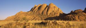 Rock Formations in a Desert at Dawn, Spitzkoppe, Namib Desert, Namibia