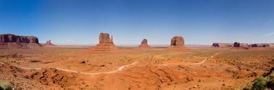 Rock Formations in a Desert, Monument Valley Tribal Park, Arizona, USA