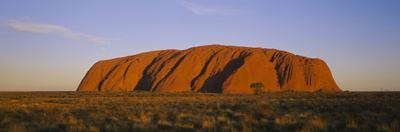 Rock Formations on a Landscape, Ayers Rock, Uluru-Kata Tjuta National Park, Northern Territory